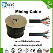 Three phase cable 15 kV, metallic screen shielded cable for use in underground mining
