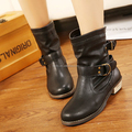 Mega March Sourcing 2017 winter boots brown ankle boots ladies flat boots PH4020