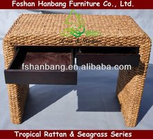 Modern Water Hyacinth Writing Desk For Study Room