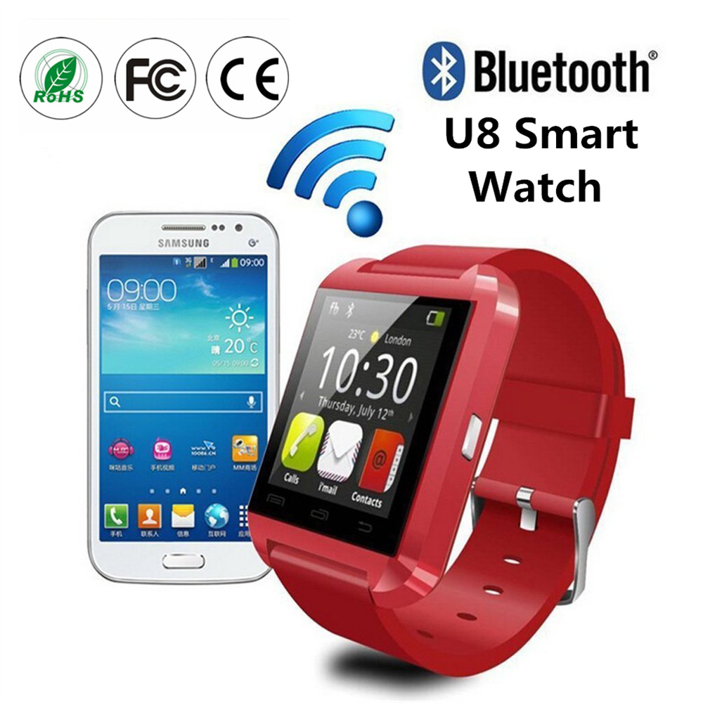 Bluetooth Touch Screen Waterproof 2016 U8 Wrist Fitness Tracker wifi Smart Watch for IOS Android Smartphones Smartwatch