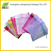 Hot sale beautiful personalized small drawstring organza gift bags wholesale