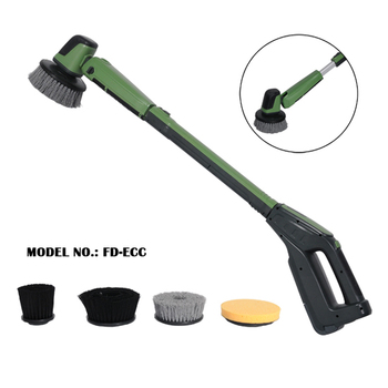 Electric floor scrubber machine manual motor scrubber car - Swimming pool tile cleaning machine ...