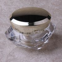 Luxury Diamond Acrylic Cosmetic Cream Jars 15 30 50g cosmetic packing