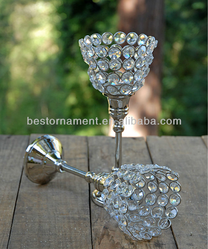 Crystal Candle Holder 8.5in