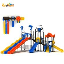 child useful play complex used long plastic outdoor playground slide