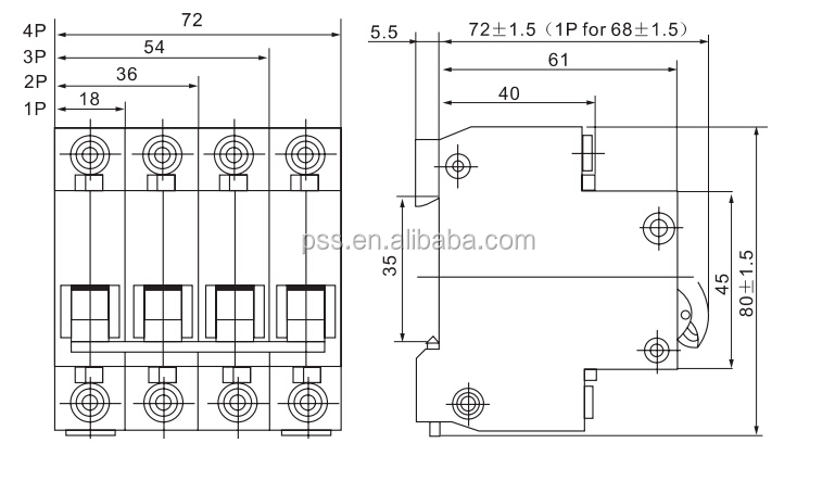 delixi dz47 c16 mcb 2p miniature circuit breaker 230  400v