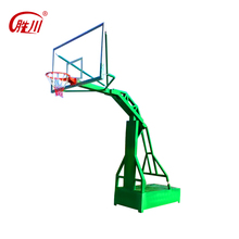 Indoor standard hydraulic basketball goal system with tempered glass