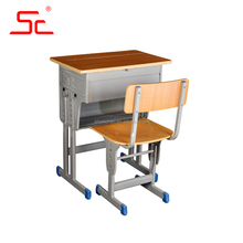 Yongkang single school furniture chairs with tables attached