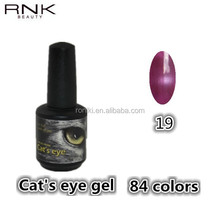 RNK magic 3D magnetic cat's eyes uv/led gel 84 colors manufacturer ensured high quality nail gel polish supplier for nail salons