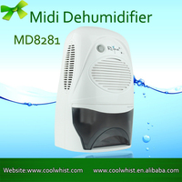 2L tank 600ml capacity mini desiccant compact home dehumidifier