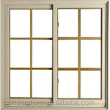 windows with built in blinds/PVC double sash sliding windows with built in blinds,price of window frame