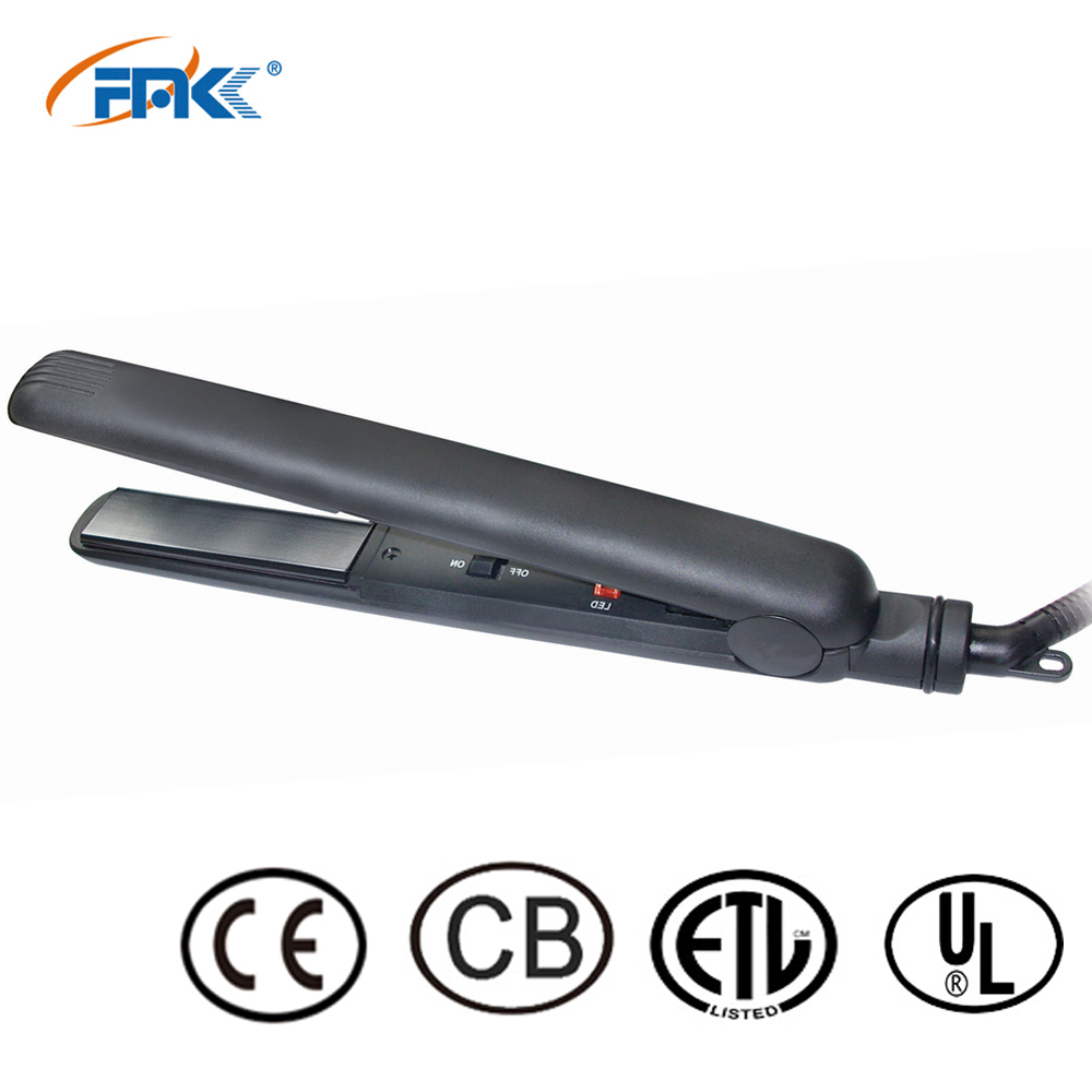 China manufacturer electric hair straightener tourmaline titanium flat iron with private label