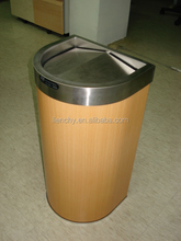 Trash Can with Golden Okak color Coated Metal VCM Laminated Steel Coil