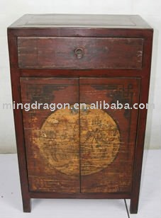 antique Chinese bedroom furniture, hand painted cabinet