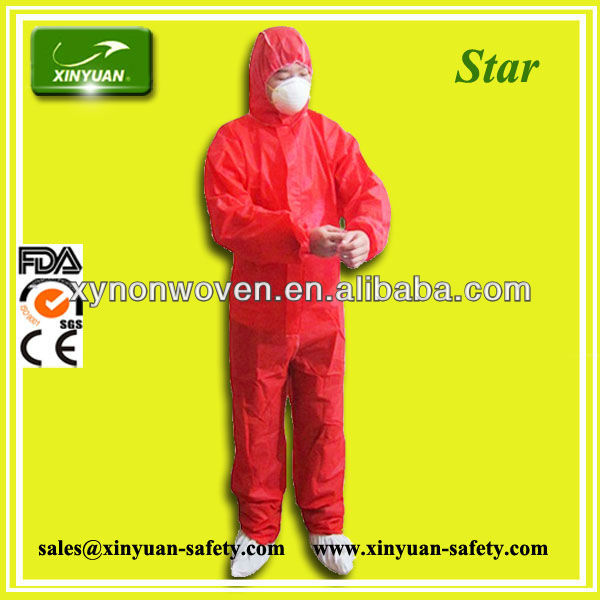 disposable red TYPE 56 SMS Coverall on sale
