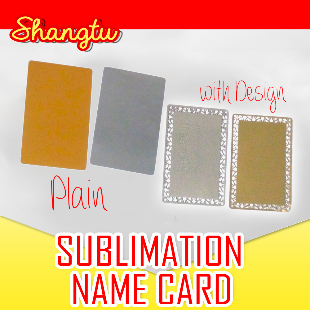 SUBLIMATION NAME CARD PLAIN--GOLD,SILVER--