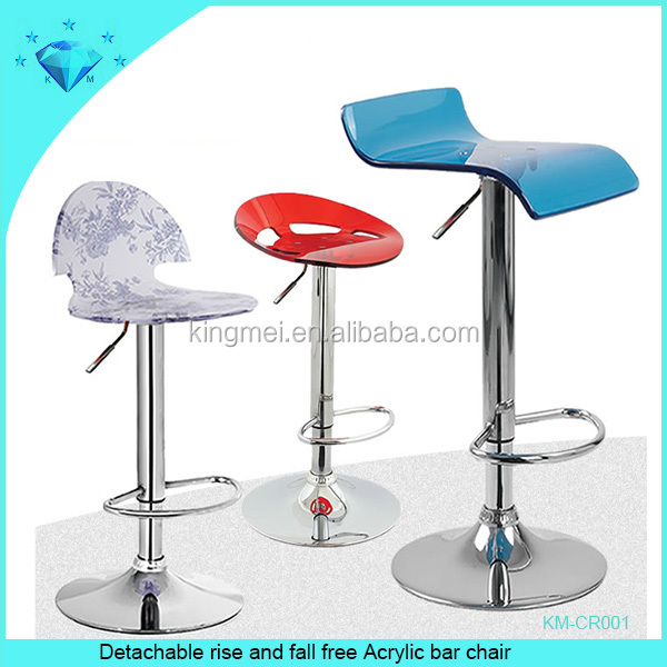 Detachable rise and fall free acrylic bar chair acrylic chair furniture custom