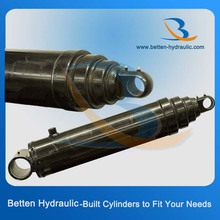 Telescopic under trailer/dump truck hydraulic cylinder