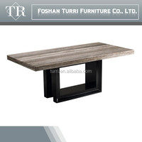 luxury furniture modern natural stone marble top dining table for 6 seaters