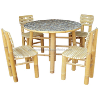 BDS1001 - Bamboo Dining Set with Round Table