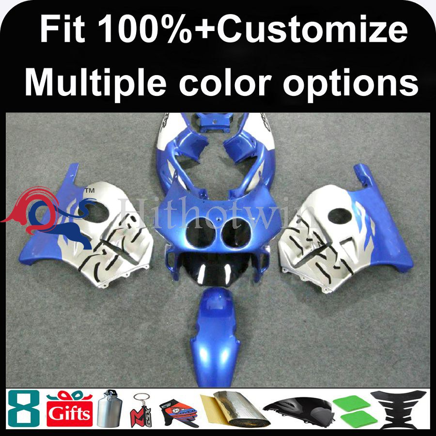INJECTION MOLDING panels 1991 1992 1993 1994 1995 1996 1997 1998 1999 CBR250RR MC22 For HONDA CBR 250RR MC 22 silver blue Fairi