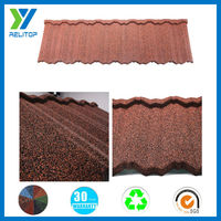 Color Stone Chip Coated Metal Roof Tile/Construction Material Stone Roof