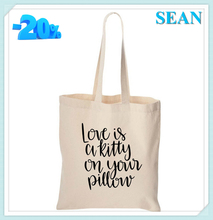 Custom Silk Screen Printing Standard Size Canvas Shopping Tote Bag