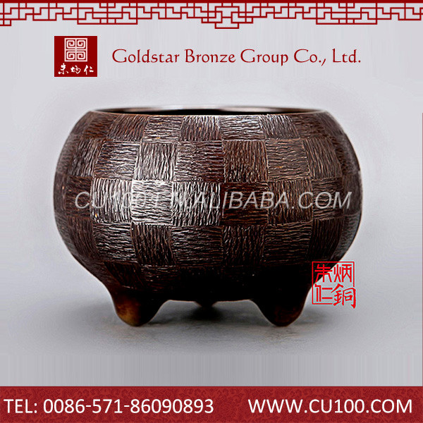 Delicated design chinese antique high quality copper oriental incense burner