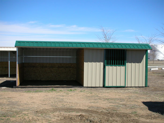 Agricultural Steel Shelter : Metal horse shelters animal shelter sided