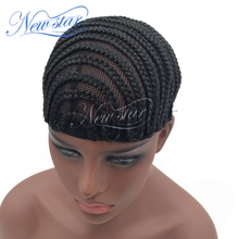 Black Color Braided Wig Caps For Crotchet and Weaving To Make Wigs