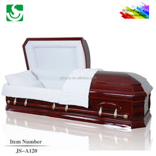High gloss wholesale solid wooden caskets manufacture