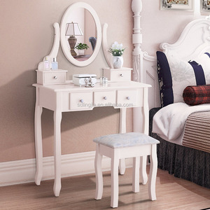 Handmade Mirror Vanity Salon Movable Modern Dressing Table