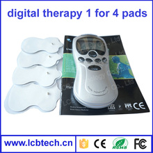 Digital Therapy electronic pulse massager with 4 pads body Machine personal slimming Massager ,Electric mini massager