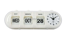 Big Arabic Numeral Flip Clock Calendar Clocks For Elderly
