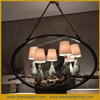 romantic ceramic fabric pendant lighting for coffee shop decorate