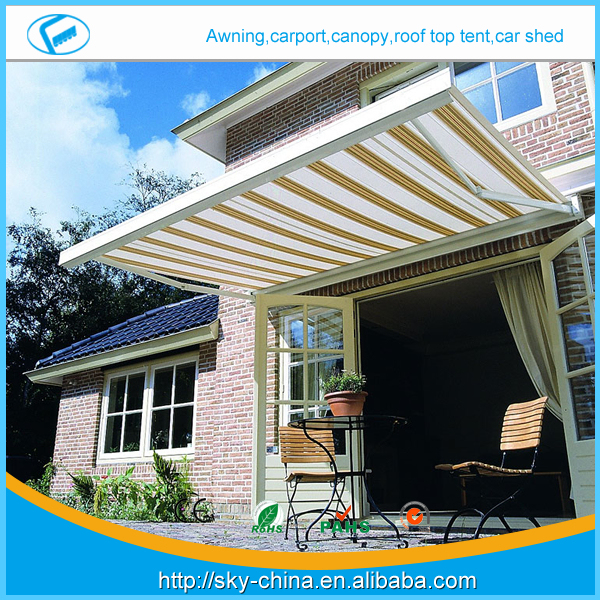 New 5m*1.5m- Retractable half Cassette Folding arm Awning Prefab Electric Retractable door entrance awning