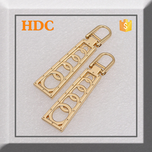 Hot selling five rings gold new design shinning metal zipper puller