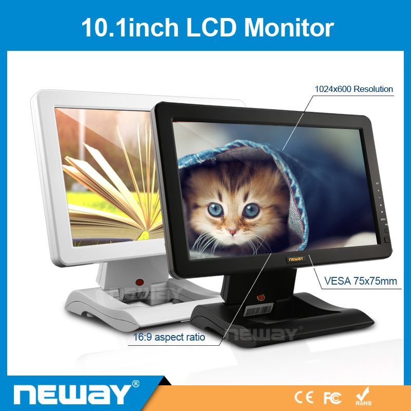 10.1 Inch Display Resistive Touch 1024X600 Touchscreen CCTV LCD Monitor