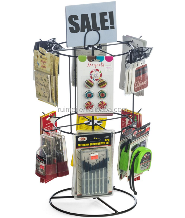 Economy Countertop Metal Spinner Display Rack with Hooks