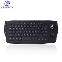 Handheld 2.4G Mini wireless keyboard with trackball for android