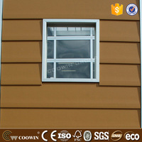 Cedar Color Fashion Design Wall Cladding WPC Facade Boards