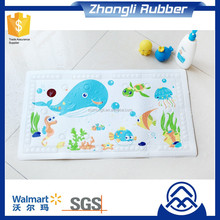 Water Temperature Sensitive Color Change Customized Design Anti Slip Bath Mat for Baby