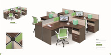 MDF wood aluminum partition office cubicle workstation