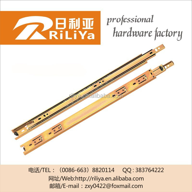 Metal table heavy duty telescopic slides,plastic drawer rail