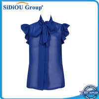 woman blouse new fashion chiffon blouse 2014