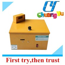 Redemption ticket eater machine for ticker counter lottery ticket counting machine