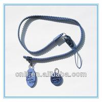 New Design Zipper Lanyard/ Necklace Zipper Lanyard With Charm