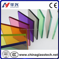 CE&ISO&CCC Approved Clear/Colored PVB/EVA Film Laminated Tempered Glass For Sale Factory Price