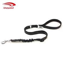 Premium Auto Seat Safety Adjustable Pet Safety Leash Leads Neoprene Double Handle Nylon Running Dog Leash