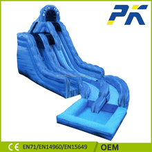 Factory customized design double lane giant inflatable water slide for adult